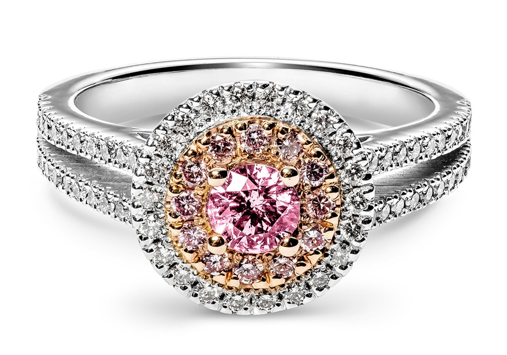 Split Band Argyle Pink Diamond Ring