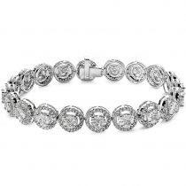diamond halo bracelet