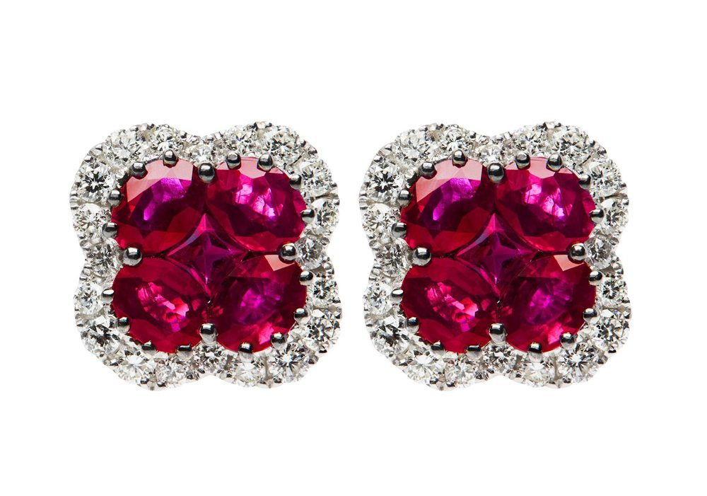 natural ruby earrings 1 8 0 carata