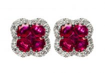 natural ruby earrings 1 8 0 carata