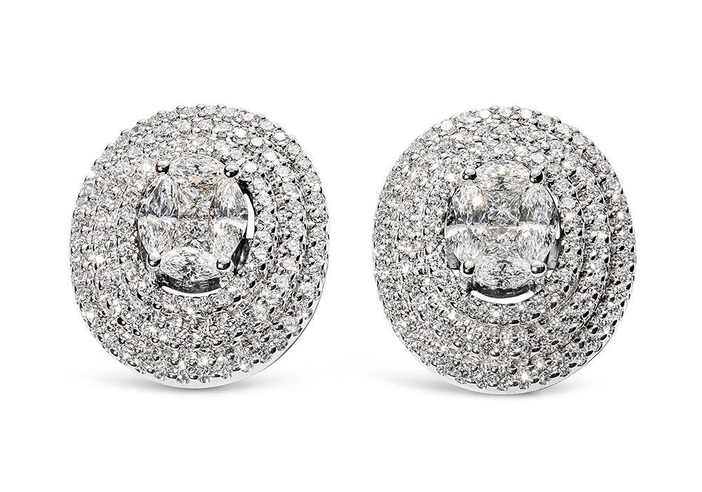 Multi-Cut Diamonds Earrings