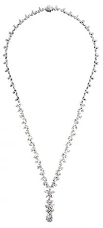 white gold necklace 18 carat min