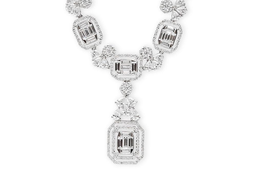 Shiny diamond necklace jewellery