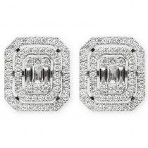3ct baguette diamond stud earrings