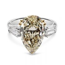 van bercken pear shape yellow diamond
