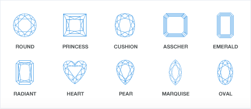 diamond shapes graph