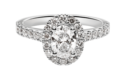 diamond ring top row